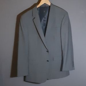 41R Kenneth Cole grey wool 2 button blazer